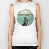 rain Biker Tanks featuring Rain by Seamless