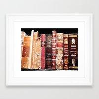 books Framed Art Prints featuring Books by Regan's World