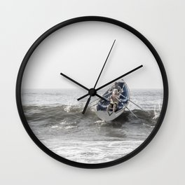 Over The Wave Wall Clock