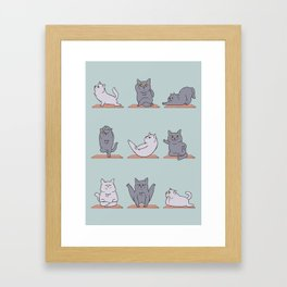 British Shorthair Cat  Yoga Framed Art Print