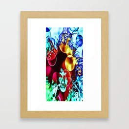 MinikeGirl Singersongwriter Framed Art Print