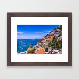 Love Of Positano Italy Framed Art Print