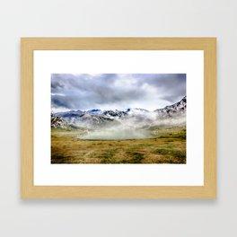 Lago Ercina in National park Picos de Europa Framed Art Print