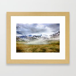 Lago Ercina in National park Picos de Europa Framed Art Print