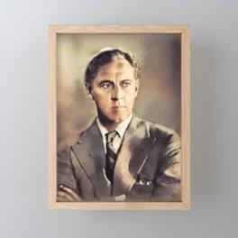 John Barrymore, Actor Framed Mini Art Print