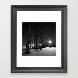 Winter Night's Walk Framed Art Print
