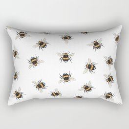 bee pattern Rectangular Pillow