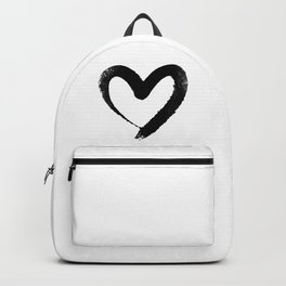 Ink Heart Minimal Fashion Stylish Backpack
