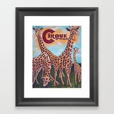 Giraffes on the Circle  Framed Art Print