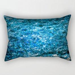 Water Color - Blue Rectangular Pillow
