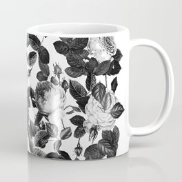 Black and White Victorian Roses Coffee Mug
