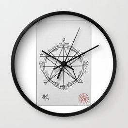 Elemental Pentagram Wall Clock