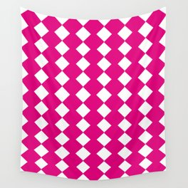pink geometry Wall Tapestry