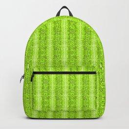 Green Snake Skin Animal print Wild Nature Backpack