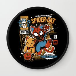 Spider Cat Wall Clock