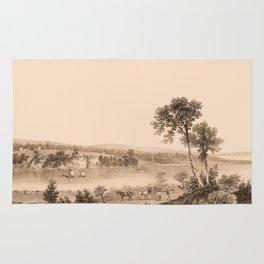 Lake Champlain 1850 (sepia) Rug