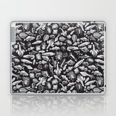 Aquatic I: White on Black Laptop & iPad Skin