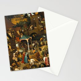 Pieter Bruegel the Elder Netherlandish Proverbs Painting Stationery Cards