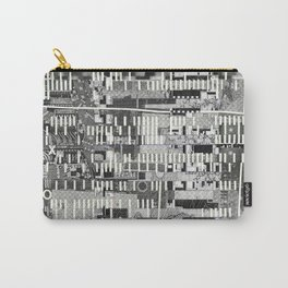 Exploiting Digital Behavior (P/D3 Glitch Collage Studies) Carry-All Pouch