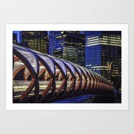 Calgary Peace Bridge Art Print