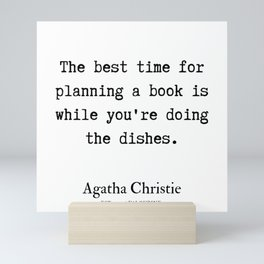 8  | Agatha Christie Quotes | 190821 Mini Art Print