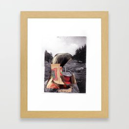 amidst the confused happenings Framed Art Print