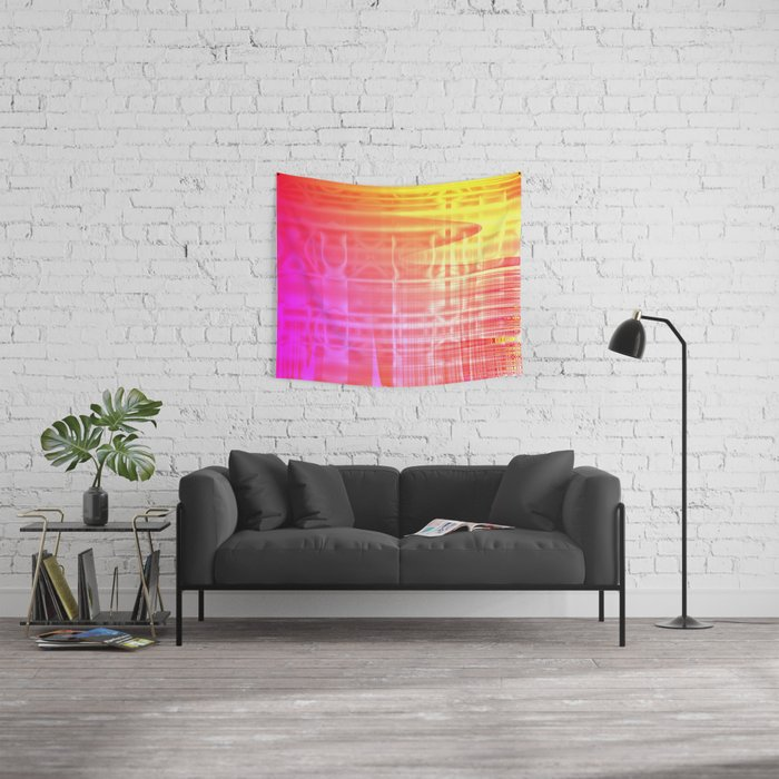 Colorful Abstract Wall Tapestry