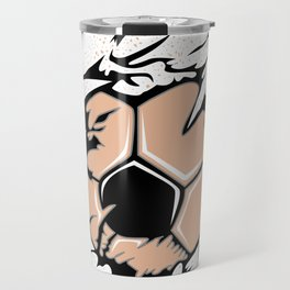 Fan Ball Soccer Flames Scratch WM EM Gift Travel Mug