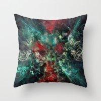 alchemy Throw Pillows featuring Alchemy by noistromo