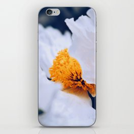 Fluttering White Poppy iPhone Skin