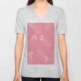 Pink Aubergine Unisex V-Neck