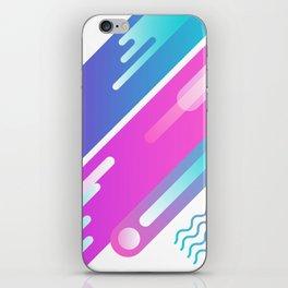 80's Graphic Fluid Design iPhone Skin