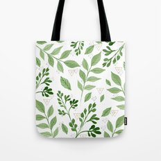 Plants with triangles Tote Bag