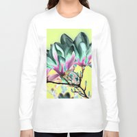 popart Long Sleeve T-shirts featuring MAGNOLIA - PopArt by CAPTAINSILVA