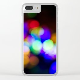 Holiday Sparkle Clear iPhone Case