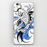 koi fish iPhone & iPod Skins featuring Koi Fish  by JonathanStephenHarris