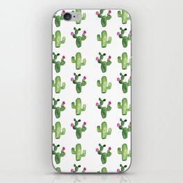 WATERCOLOR CACTUS PATTERN iPhone Skin
