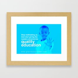 CHILD EDUCATION Framed Art Print