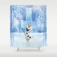 olaf Shower Curtains featuring OLAF by Electra