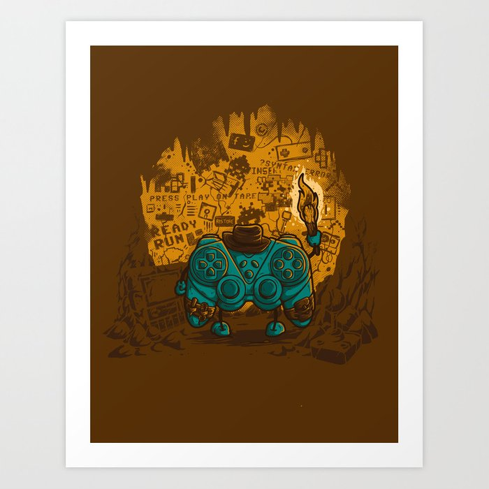 THE ARCHEO-GAME-OLOGIST Art Print