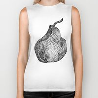 pear Biker Tanks featuring Pear by Of Newts and Nerds