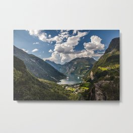 Geiranger Fjord Norway Mountains Metal Print