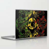maori Laptop & iPad Skins featuring Rasta Colors on Maori Patterns by Lonica Photography & Poly Designs