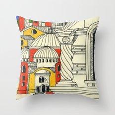 architectural fantasy_25 Throw Pillow