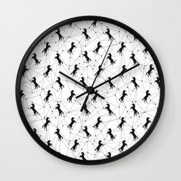 Constelación Pegaso Negro Wall Clock