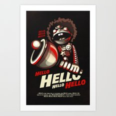 HELLO! HELLO! (black) Art Print