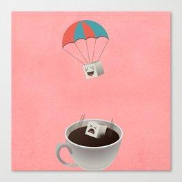 Cautious Sugar Cube Canvas Print