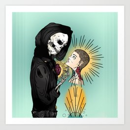 Even In Death Art Print