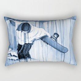 'Earning The Line' Rectangular Pillow