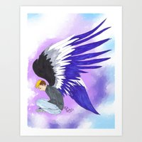 asexual Art Prints featuring Asexual by Jack Bockover